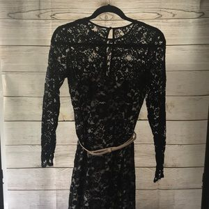 Nordstrom MAGGY LONDON Black Lace Dress